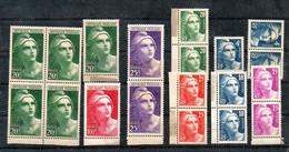 J2028  Lot De Marianne Gandon Gravés **  Charnieres Sur Les Marges Pour Certains - Unused Stamps