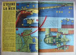 GRAVURE - ENCART DOUBLE PAGES - USINE HYDRO ELECTRIQUE DE LA RANCE - Obras Públicas