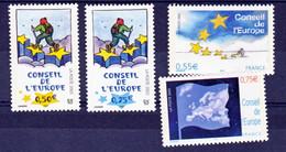 France Service 126/127 130/131 Conseil De L'europe Neuf ** TB MNH Sin Charnela Cote 13 - Neufs