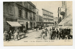 11/ CPA TUNIS 264 La Rue Al-Djazira Et L'Hôtel De Paris  ND Phot. - Tunisia