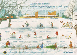 Denmark; Lions Club;  Local Christmas Seals - Værløse.  Full Sheet 2003.  MNH ** - Not Folded. - Rotary, Lions Club