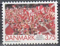 Denmark 1992, Football Europe Cup In Sweden - Win Of The Danish Team, MNH Single Stamp - Unused Stamps