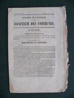 6 Mai 1870 Ministère De L'Intérieur  MONITEUR DES COMMUNES Proclamation Et Complot Contre L' Empereur NAPOLEON III - Documenti Storici