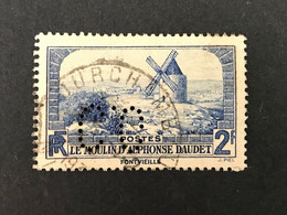 FRANCE C N° 311 1936 CO 327 Indice 2 Perforé Perforés Perfins Perfin Timbre Superbe  !! - Gezähnt (Perforiert/Gezähnt)