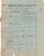 BOLLETTINO CONSEGNA SOCIETA TRAMVIE ELETTRICHE ROMA CIRCA 1910 (XF577 - Europa