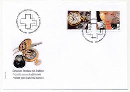 SUISSE -  FDC 2005 - Produits Suisses Traditionnels (Horlogerie) - Berne - 9/9/2005 - 1 Enveloppe - Horloges