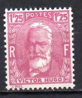 Col18  France N° 293 Hugo  Neuf X MH    Cote 7,00€ - Unused Stamps