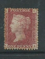 1d Red Victoria Plate 198 Hm Very Slight Edge Toning - Unused Stamps