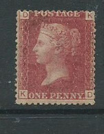 1d Red Victoria Plate 203 - Unused Stamps