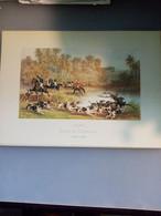 Gravure N°1 Chasse à Courre (Saumur école De Cavalerie /laboratoires Sandoz) - Advertising