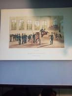 Gravure N°2 Sauteurs Aux Piliers (Saumur école De Cavalerie /laboratoires Sandoz) - Advertising