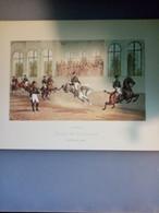 Gravure N°3 Sauteurs En Liberté (Saumur école De Cavalerie /laboratoires Sandoz) - Advertising
