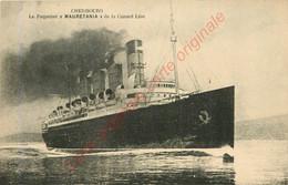50.  CHERBOURG .  Le Paquebot  MAURETANIA  De La Cunard Line . - Cherbourg
