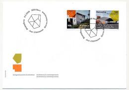 SUISSE -  FDC 2009 - Architecture Contemporaine - BERNE - 8/5/2009 - 3 Enveloppes - FDC