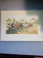 Gravure N°7 Saut De Haie (Saumur école De Cavalerie /laboratoires Sandoz) - Advertising