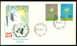 Italie 1970 FDC 25 Jaar Verenigde Naties - F.D.C.
