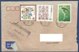 CHINA POSTAL USED AIRMAIL COVER TO PAKISTAN - Sonstige