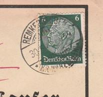 Deutsches Reich Karte Mit Tagesstempel Remkersleben 1941 Kr Wanzleben  Stadt Wanzleben Börde Lk Börde - Briefe U. Dokumente