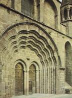 Le Dorat (Haute Vienne) La Collégiale Vue Du Portail Ouest (carte Vierge) - Iglesias Y Catedrales