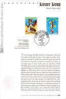 """"""" LUCKY LUKE """" Sur Notice Officielle 1er Jour De 2003. N° YT 3545 3546. Parfait état. FDC - Bandes Dessinées"""