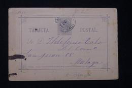 ESPAGNE - Entier Postal Pour Malaga En 1885 - L 77672 - 1850-1931
