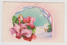 Carte Mignonnette Bonne Année Fleurs ,paysage - Anno Nuovo