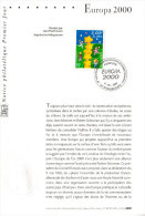 """"""" EUROPA 2000 """" Sur Notice Philatélique 1er Jour De 2000. N° YT 3327. Parfait état. FDC** - 2000"""