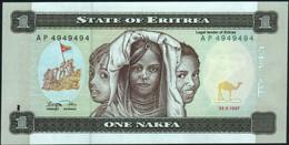 ♛ ERITREA - 1 Nakfa 24.05.1997 {RADAR #AP 4949494} UNC P.1 - Eritrea