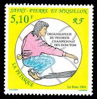 ST-PIERRE ET MIQUELON 1994 - Yv. 593 *   Faciale= 0,78 EUR - Sport : Pétanque  ..Réf.SPM12041 - Unused Stamps