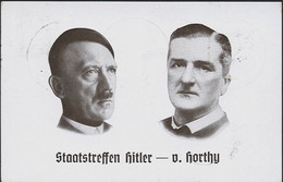 AK/CP  Propaganda  Hitler Horthy  Nazi  Ungel/uncirc.1933-45  Viele Sonderstempel   Erhaltung/Cond. 1-  Nr. 01197 - Guerra 1939-45