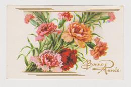 Carte Mignonnette Bonne Année  Fleurs - Anno Nuovo