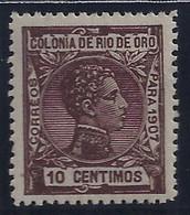 ESPAÑA/RIO DE ORO 1907- Edifil #23 - MLH * - Rio De Oro