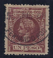 ESPAÑA/FERNANDO POO 1900 - Edifil #92 - VFU - Fernando Po
