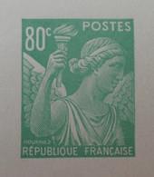 R1098/26 - 1944 - TYPE IRIS - N°649 - EPREUVE DE LUXE Des ATELIERS De FABRICATION Des T-P De PARIS - Luxeproeven
