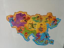 Magnets Brossard Asie - Carte Complète - Magnets