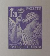 R1098/28 - 1944 - TYPE IRIS - N°651 - EPREUVE DE LUXE Des ATELIERS De FABRICATION Des T-P De PARIS - Luxeproeven