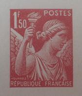 R1098/29 - 1944 - TYPE IRIS - N°652 - EPREUVE DE LUXE Des ATELIERS De FABRICATION Des T-P De PARIS - Luxeproeven