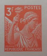 R1098/32 - 1944 - TYPE IRIS - N°655 - EPREUVE DE LUXE Des ATELIERS De FABRICATION Des T-P De PARIS - Luxeproeven