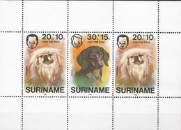 Republiek Suriname - Kinderzegels - Honden/dogs/chiens/Hunde - MNH - Zb 48 Blok - Suriname