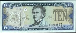 ♛ LIBERIA - 10 Dollars 2003 UNC P.27 A - Liberia