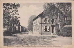 """REINHEIM (Hessen) , Darmstadter-Strasse Mit Gasthaus """"Schloss Lichtenberg"""" , Germany , 1910s - Darmstadt"""