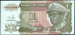 ♛ ZAIRE - 1 Nouveau Likuta 24.06.1993 {Mobutu} UNC P.47 - Zaire