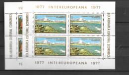 1977 MNH Romania Mi Block 141-2 - Blocks & Kleinbögen