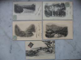 REUNION Carte Postale CPA Lot De 5 Cartes 2 Scans - Réunion