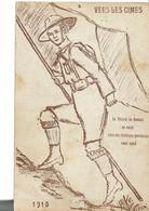 Scout Carte 1916 Vers Les Cimes  Carte En L'état Rognure - Scoutisme