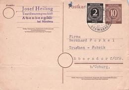 ALLIIERTE BESETZUNG - POSTKARTE 1947 ABENBERG > EBERSDORF /G67 - Zone AAS