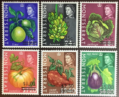 Montserrat 1968 Fruit Surcharges MNH - Frutas