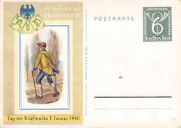 DEUTSCHES REICH - POSTKARTE 6 PF TAG DER BRIEFMARKE 7. JAN 1940 /G69 - Entiers Postaux