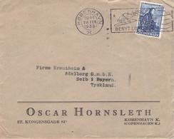 DENMARK - LETTER 1939 KOBENHAVN > SELB/BAVARIA /G70 - Brieven En Documenten