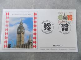 FDC (premier Jour) Monaco 2012 : Jeux Olympiques De Londres 2012 - FDC